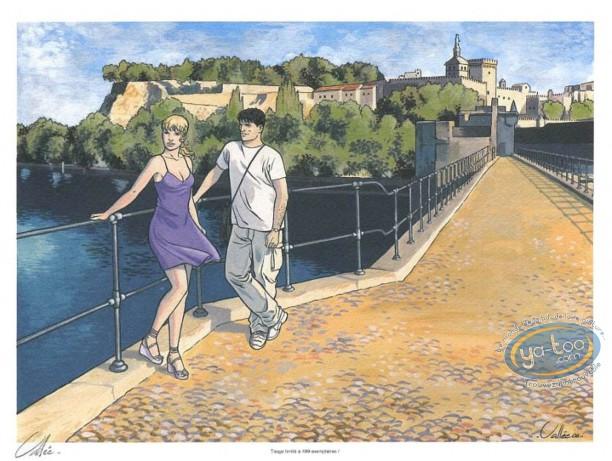 Bookplate Offset, Gil Saint André : Avignon's Bridge