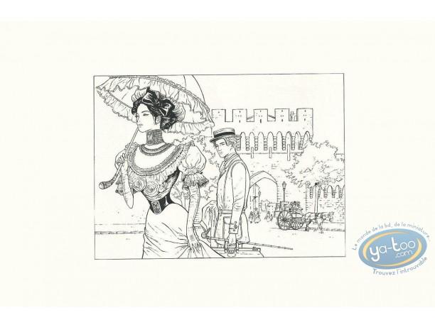 Serigraph Print, Sasmira : The Walk