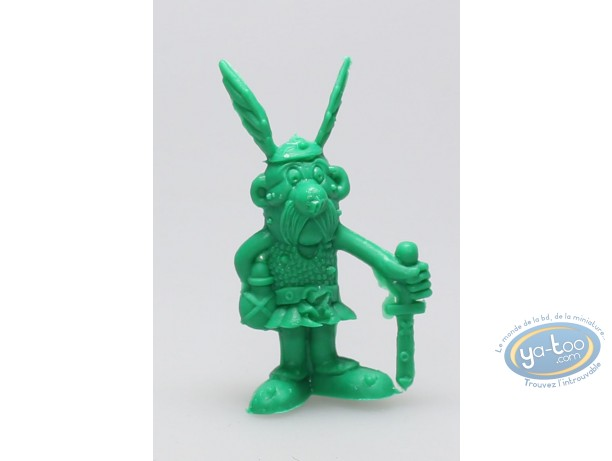 Plastic Figurine, Astérix : Mini Asterix sword at hand to the floor (green)
