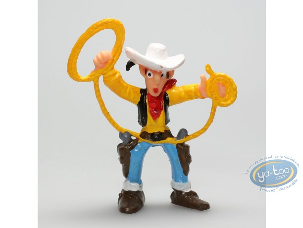 Plastic Figurine, Lucky Luke : Lucky Luke lasso in the air