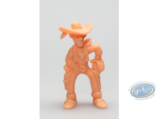 Plastic Figurine, Lucky Luke : Lucky Luke ready to shoot (orange)