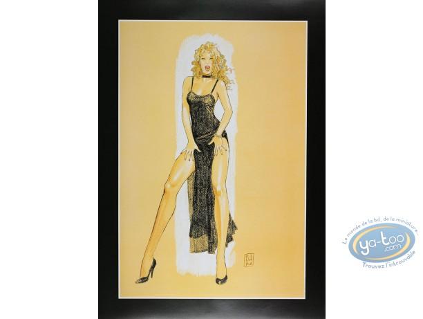 Offset Print, Pin-Up : Evening Dress, Manara