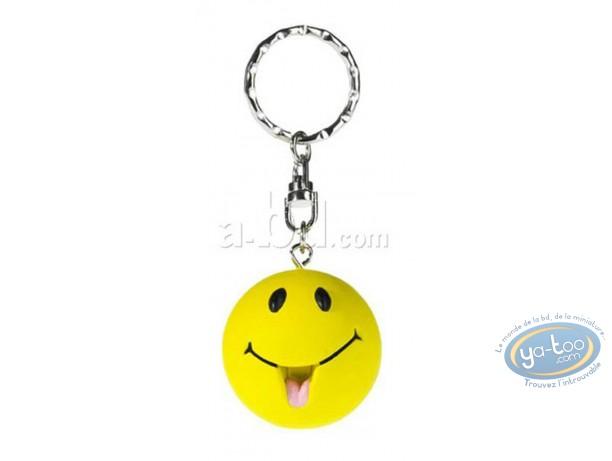 Keyring, Smiley : Key ring, Smiley tongue