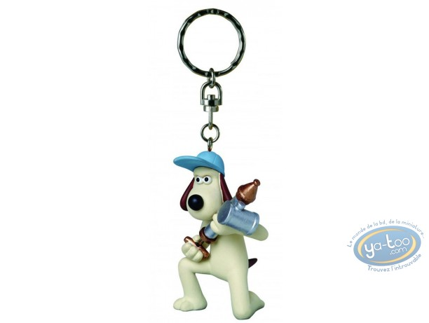 Plastic Figurine, Wallace and Gromit : Key ring,Key ring, Wallace & Gromit : Gromit antipesto