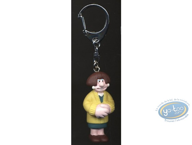 Plastic Figurine, Wallace and Gromit : Key ring, Wallace & Gromit : Wendolene