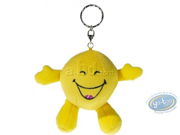 Keyring, Smiley : Plush Key ring, Smiley laughing