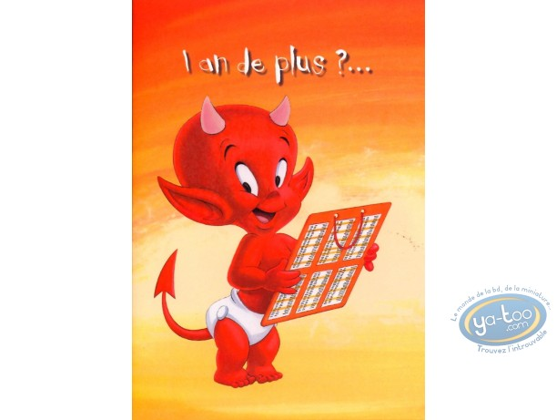 Post Card Hot Stuff 1 An De Plusca Sarrose Bon Anniversaire