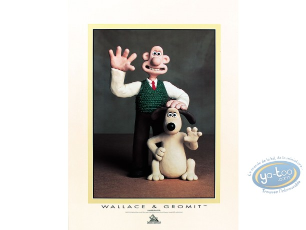 Offset Print, Wallace and Gromit : Hello