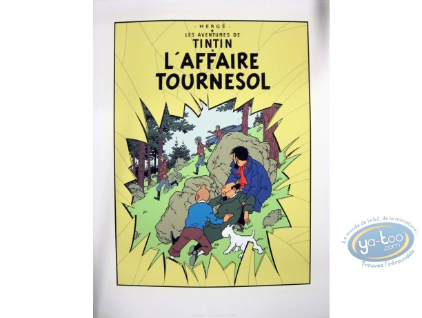 Serigraph Print, Tintin : The Calculus Affair