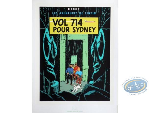 Serigraph Print, Tintin : Vol 714 pour Sidney