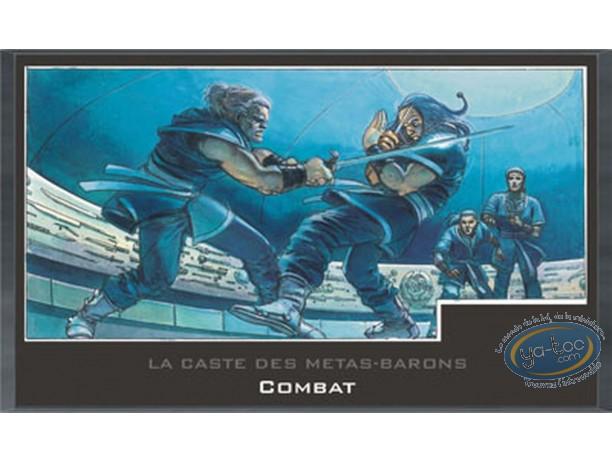 Offset Print, Caste des Métas-Barons (La) : Wooden plate, La Caste des Metas-Barons : Fight