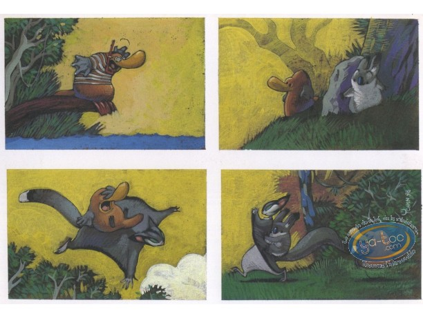 Bookplate Offset, Toto l'Ornithorynque : 4 drawings