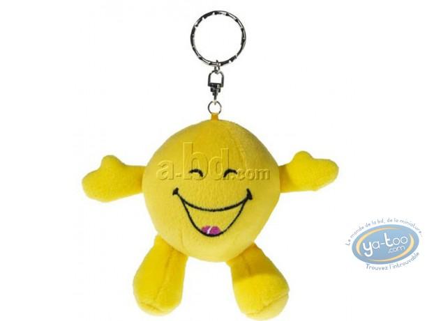 Keyring, Smiley : Plush Key ring, Smiley laughing