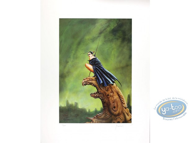 Offset Print, Jaguar : Woman on Gargoylle