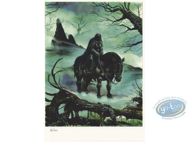 Bookplate Offset, The Black Rider