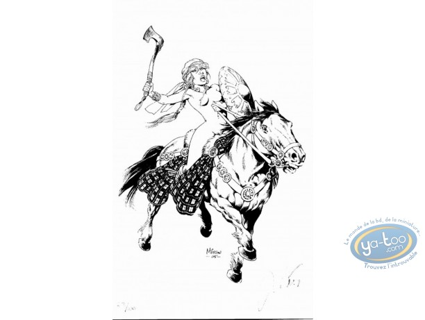 Bookplate Offset, Vae Victis : Ambre on Horse