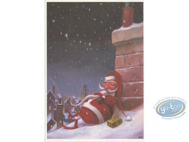 Bookplate Offset, Santa Claus sleeps