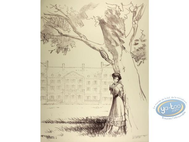 Lithography, Sasmira : Sasmira under the Tree (very good condition)
