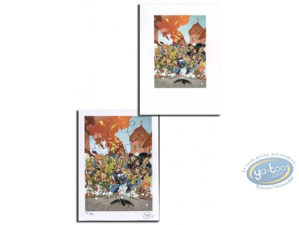 Bookplate Offset, Tribute to comics (jigsaw)