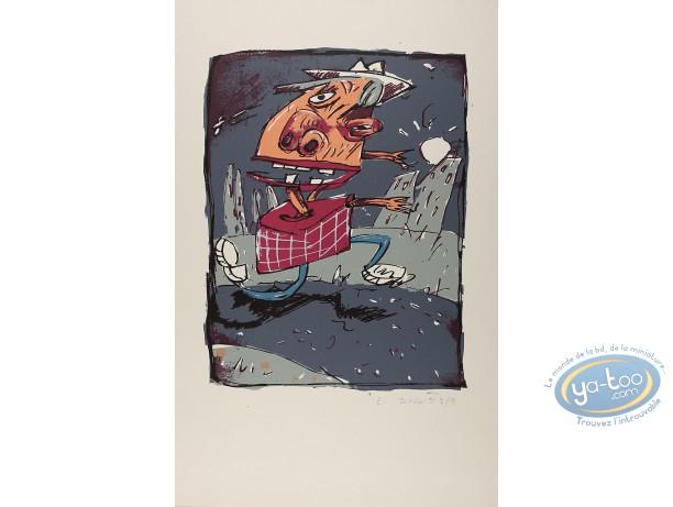 Serigraph Print, Blezin : Man running