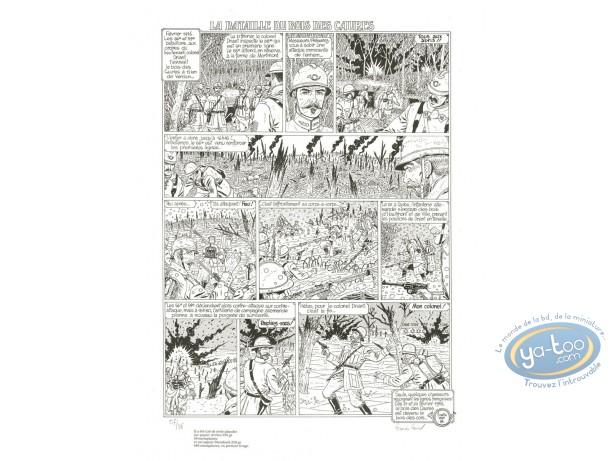 Serigraph Print, Bataille du Bois des Caures (La) : La baitaille du Bois des Caures