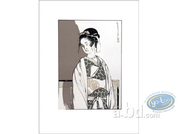 Serigraph Print, Kogaratsu : Geisha