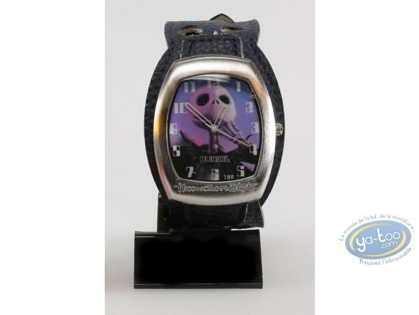 Clocks & Watches, Etrange Noël de Mr. Jack (L') : Watch, The Nightmare before Christmas Mr Jac - blue leather strap