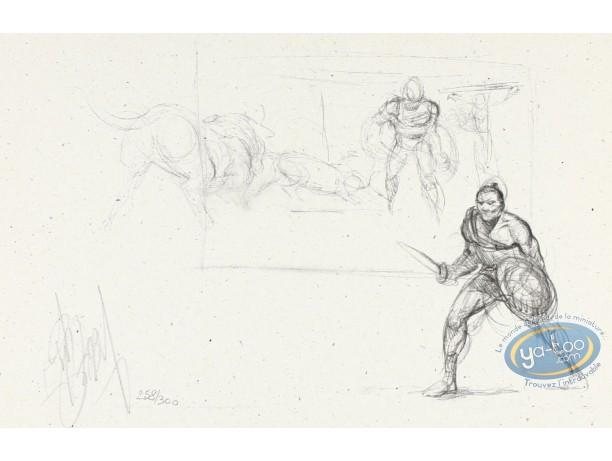 Bookplate Offset, Murena : Murena sketch : Gladiators