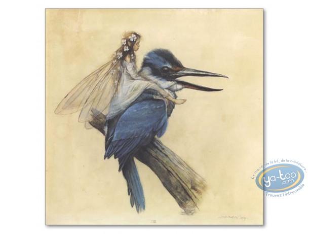 Offset Print, Féerie : Fairy on bird