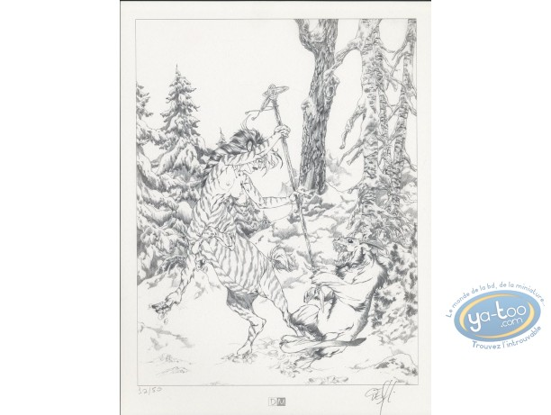 Bookplate Offset, Garous : Female Centaur