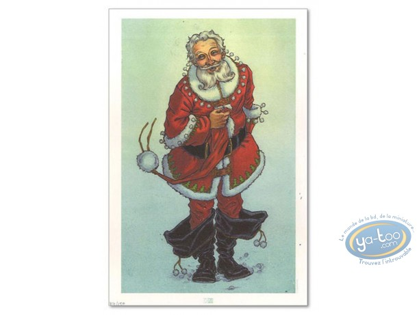 Bookplate Offset, Mon Voisin le Père Noël : My Neighbour Santa Claus (signed)