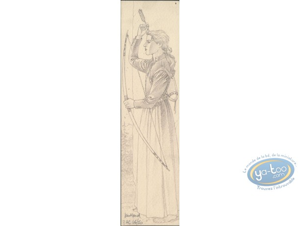 Offset Bookmark, Plume aux Vents : Ariane with an arc (signed)