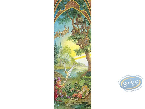 Offset Bookmark, 4 Saisons : The 4 seasons spring (signed)