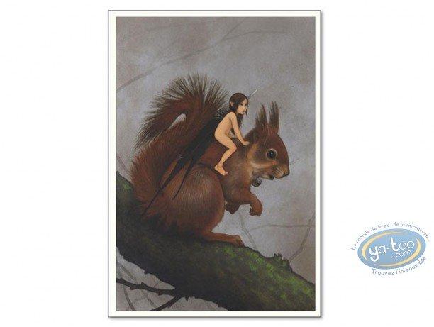 Offset Print, Féerie : Fairy on squirrel