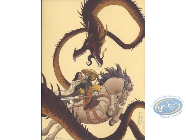 Bookplate Offset, Arthur : Arthur combattant le dragon