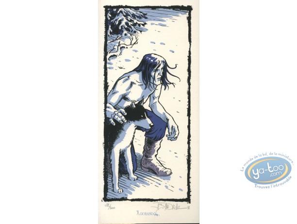 Bookplate Serigraph, Wendigo : Hunter