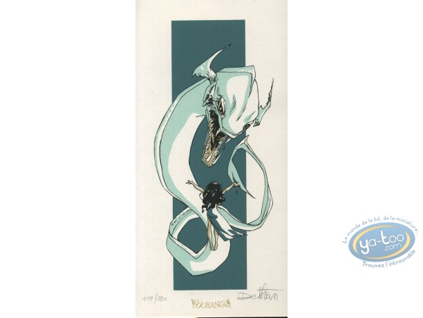 Bookplate Serigraph, Roi Cyclope (Le) : Sea Monster