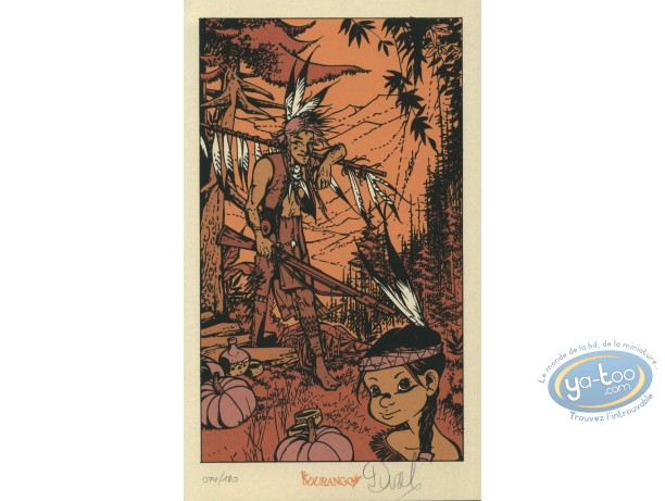 Bookplate Serigraph, Lutins (Les) : Couple