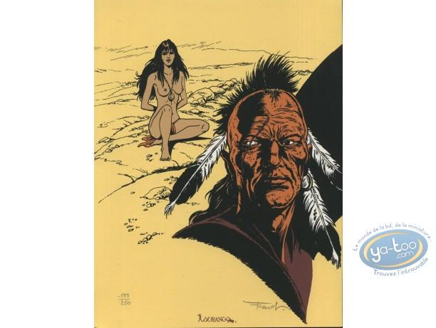 Bookplate Serigraph, Pionniers du Nouveau Monde (Les) : Indian Portrait