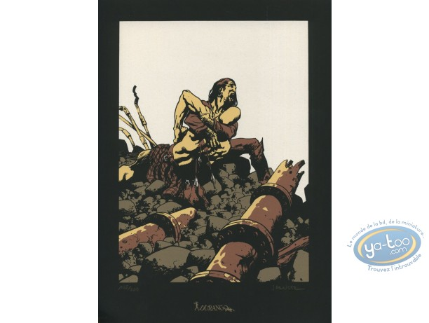 Bookplate Serigraph, Terres d'Ombre : Fight (Little mark)