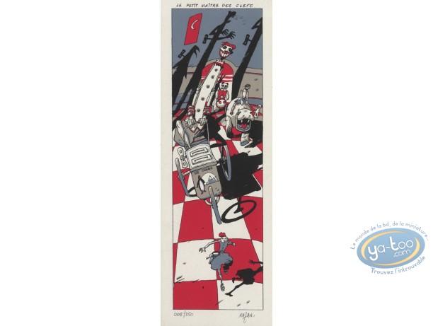Serigraph Bookmark, Mazan : Le petit maitre des clefs