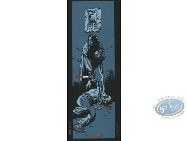 Serigraph Bookmark, Terres d'Ombre : Reward