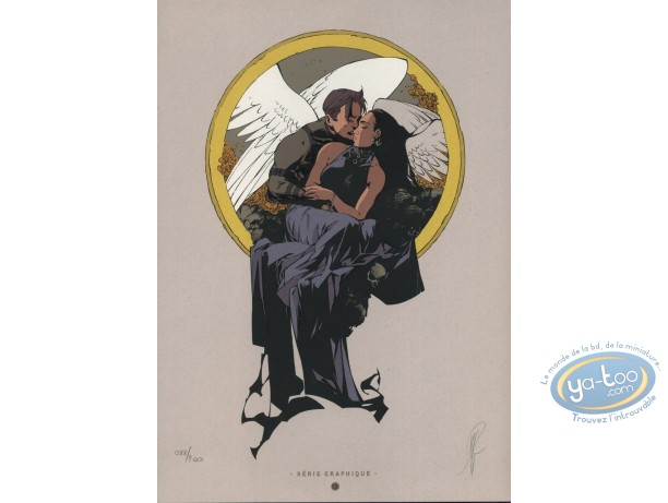 Bookplate Serigraph, Paradis Perdu : Angels Kiss