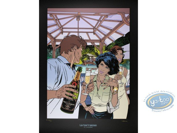 Serigraph Print, Largo Winch : Moët & Chandon (variant)