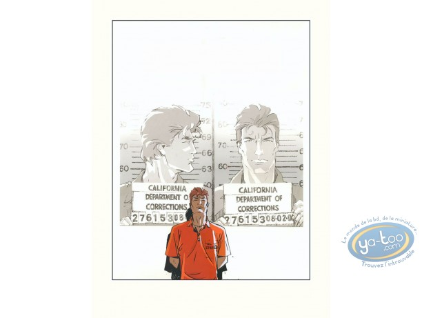 Serigraph Print, Largo Winch : Shadow (without tittle)