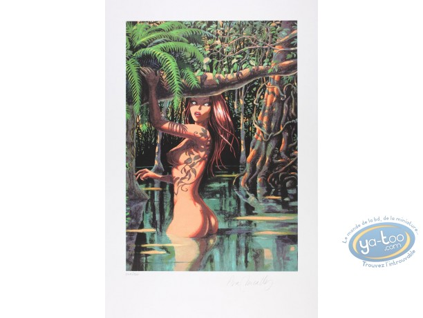 Serigraph Print, Djinn : In the Swamp