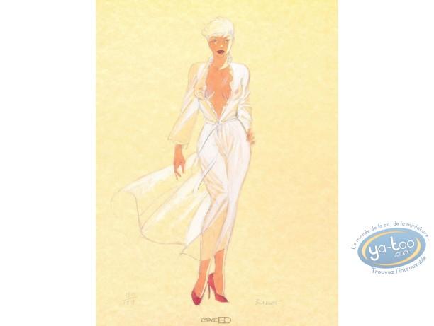 Offset Print, Pin-Up : Dottie walking