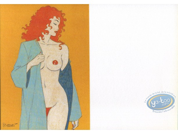Bookplate Offset, Pin-Up : Greeting card : Naked Woman with Red hair