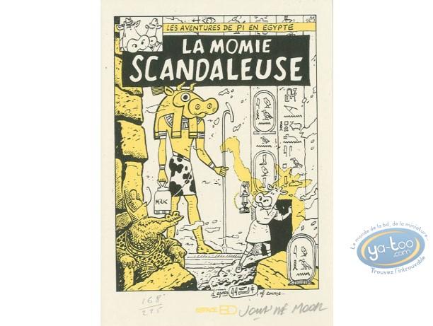 Bookplate Serigraph, Vache (La) : La momie scandaleuse