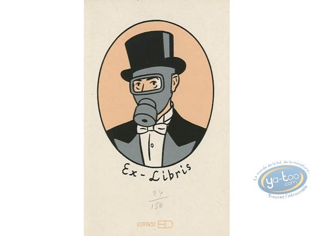 Bookplate Serigraph, Blitz : Gas Mask